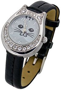 Glamour Puss Watch (Price: $19.95, which funds 28 bowls of food). From the Animal Rescue Site Store.