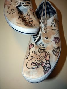Emilie Autumn Inspired Leech & Rat Design Pumps by TheSmudgyPigeon, $26.00