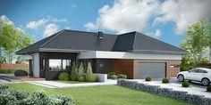Projekt domu HomeKONCEPT 36 by HomeKONCEPT House Layout Plans, Family House Plans, House Layouts, Village House Design, Village Houses, Farm Villa, Model House Plan, Bungalow House Plans, American Houses
