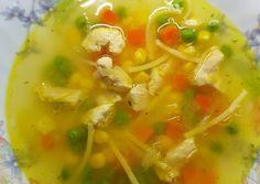 Tavaszi zöldségleves csirkemell csíkokkal | Babai János receptje - Cookpad receptek Thai Red Curry, Ethnic Recipes, Food, Eten, Meals, Diet