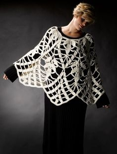 Lacy Crochet Poncho Inspiration! (There is  a diagram though if you want to try! I certainly will!!).: