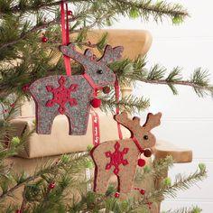 Felt Christmas Reindeer Tree Decoration