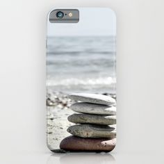Balancing Stones On The Beach - $28  #phonecases #iphonecase