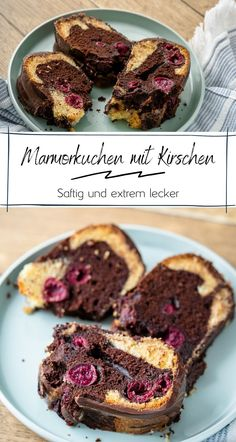 My best marble cake with cherries juicy and delicious (also in the Thermomix) Simply Malene Chocolate Brownies, Chocolate Chip Cookies, Fun Desserts, Dessert Recipes, Chocolate Thermomix, Food And Drink, Favorite Recipes, Sweets, Baking