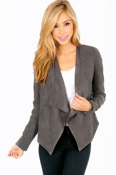 Zac draped jacket $60 http://www.tobi.com/product/50192-tobi-zac-draped-jacket?color_id=69253&utm_medium=email&utm_source=new&utm_campaign=2013-09-09