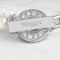 Nothing says timeless style quite like this double stranded, Personalized Pearl. Necklace with Rhinestone Toggle. Paired with one of five card options, this gift set is the perfect finishing touch for your bridesmaids on that special occasion. Bridesmaid Jewelry, Bridesmaid Gifts, Bridal Jewelry, Bridesmaids, Bridesmaid Dresses, Modern Jewelry, Fine Jewelry, Jewelry Making, Jewelry Sets
