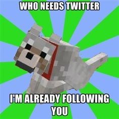 Minecraft dogs are just creepy stalkers in a dog suit