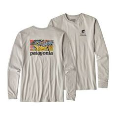 M's Long-Sleeved Eye of Brown World Trout Cotton T-Shirt, Tailored Grey (TGY)
