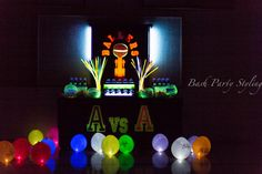 Basketball, glow in the dark Birthday Party Ideas | Photo 1 of 18 | Catch My Party