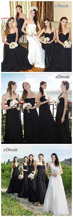 Black bridesmaid dresses from eDressit!  #wedding #bridesmaid_dresses