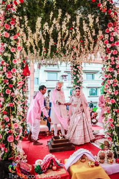 Floral mandap decor idea ott
