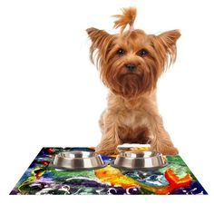 Kess InHouse Rosie Brown 'Fantasy Fish' Feeding Mat for Pet Bowl, 18 by 13-Inch -- Click on the image for additional details. (This is an affiliate link and I receive a commission for the sales) #CatLovers