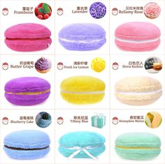 Macaroon pillows :) different flavors