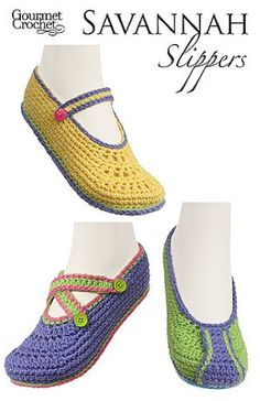 Maggie's Crochet · Savannah Slippers