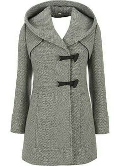 Jessica Simpson Tweed Hooded Coat - winters coming. Beautiful Outfits, Cute Outfits, Cool Coats, Mode Inspiration, Autumn Winter Fashion, Mantel, Winter Outfits, What To Wear, Stylish