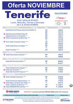 Oferta hoteles en Tenerife, salidas desde Bilbao - Noviembre ultimo minuto - http://zocotours.com/oferta-hoteles-en-tenerife-salidas-desde-bilbao-noviembre-ultimo-minuto/