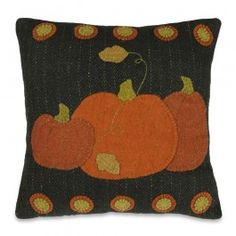 Penny Pumpkin Wool Felt Pillow for the Country Home | Sturbridge Yankee Workshop