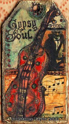 Gypsy Tag 1 Music | Original mixed media collage tag -- cut … | Flickr