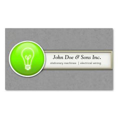 Solar panel green energy business card business cards solar and beautifull electrician inventor business card reheart Choice Image