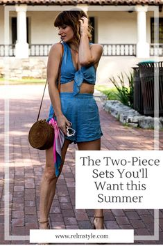 The Two-Piece Sets You'll Want This Summer · relmstyle Denim On Denim, Casual Summer Outfits For Women, Fab Life, Double Denim, Women's Summer Fashion, Dress Me Up, Chambray, Two By Two, Clothes For Women