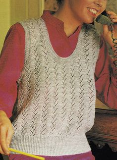 Vintage Knitting Pattern Instructions to Make a Ladies Spring Slipover Jumper