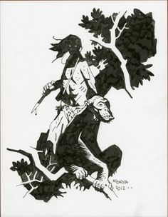 """""""It's drawn on the cover of some kind of special edition of the Kubert Tarzan Artists Edition. A bunch of the books were published with blank covers and a bunch of artists were asked to draw original Tarzan on the covers."""""""