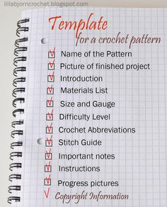 How to write a crochet pattern - Simple and detailed guidelines by Lilla Bjorn Crochet http://lillabjorncrochet.blogspot.cz/2015/09/how-to-write-crochet-pattern.html