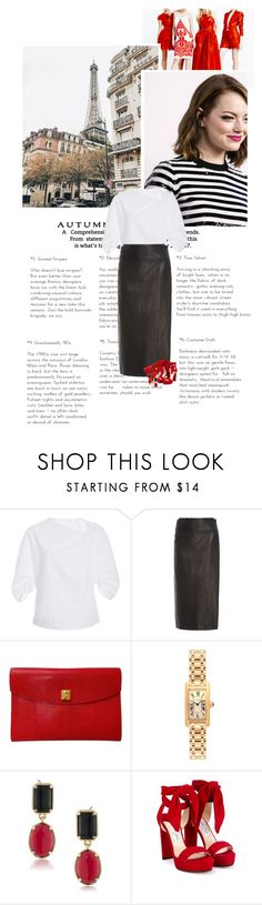 """""""Sans titre #813"""" by clo-egral ❤ liked on Polyvore featuring BEVZA, Rosetta Getty, Hermès, Cartier, 1st & Gorgeous by Carolee and Jimmy Choo"""