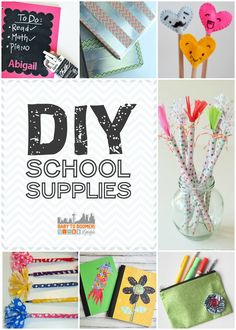 DIY School Supplies: Create, Reuse, & Personalize for Back to School
