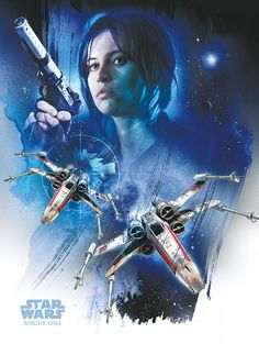 NEW Rogue One Official Posters HD - A Star Wars Story _ Jyn Erso (Felicity Jones) Rebel X-Wing HD Hi Res @3mpireshopsback