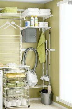 Palace - Elfa laundry storage solution from Howard's Storage World