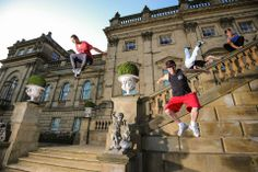 Freerunning show for Peel Heritage with Freerunning@ We deliver advertising campaigns throughout the UK and Europe, but we also welcome enquiries from around the globe too! For all of your advertising needs at unbeatable rates - www.adsdirect.org.uk
