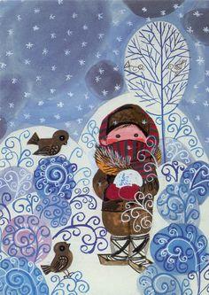 Winter Crafts For Kids Winter Art Projects, Winter Crafts For Kids, Art For Kids, Inspiration Art, Art Club, Art Plastique, Teaching Art, Elementary Art, Christmas Art
