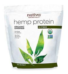 Nutiva Organic Hemp Protein, Hi-Fiber, 3 Pound
