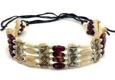 Handmade-Native-American-Style-4-Line-Buffalo-Bone-Hairpipe-Choker-Necklace