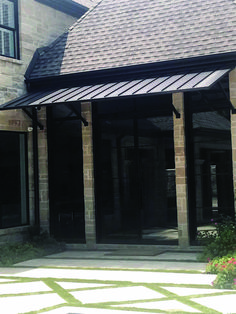 Entryway Awning, Standing Seam Metal Roof Entryway Awning, S Front Door Awning, Door Overhang, Metal Awning, Metal Roof, Awning Roof, Metal Window Awnings, Deck Awnings, House Awnings, Deck Canopy