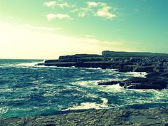 Aran islands and ocean