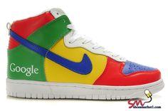 Google Logo Nike Dunk High Mens Customize Tops Sneaker