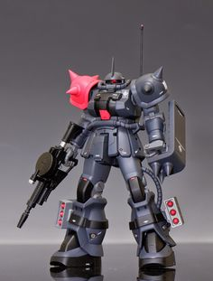 "HGUC Zaku Ⅱ ""Grand Captain"" Custom Build by HERO Sweet modification, color scheme is really nice with the red highlights that th. Zeta Gundam, Gundam Custom Build, Gundam Art, Gunpla Custom, Mechanical Design, Robot Art, Custom Decals, Gundam Model, Mobile Suit"