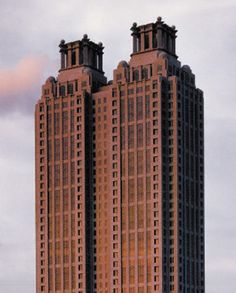 Top half of 191 Peachtree Tower. #Atlanta, GA #Hotel ~ http://VIPsAccess.com/luxury-hotels-atlanta-ga-usa.html. How do the temples fit into this story? Hmm... pondering...