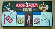 ELVIS Collectors Limited Edition Monopoly Board Game by Parker Bros Monopoly Money, Monopoly Board, Monopoly Game, Parker Games, Parker Brothers Games, Family Boards, Family Board Games, Elvis Collectors, Dinner Party Games