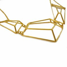 architectural structure geometric necklace | by osnatharnoy