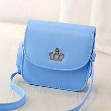 La venta del nuevo verano mujeres pequeño mensajero bolso de cuero de la PU del color del caramelo de noche del diseñador del bolso con Crowne niñas hombro bolsa pequeña(China (Mainland))