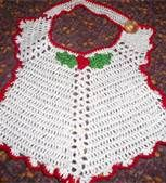 Christmas Style Hand Crocheted Baby Bib Made from a Vintage Pattern Crochet Baby Bibs, Hand Crochet, Knit Crochet, Christmas Fashion, Christmas Baby, Holiday Crochet, Etsy Seller, Handmade Items, Knitting