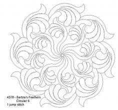 Plumas de Barbra Circular 6