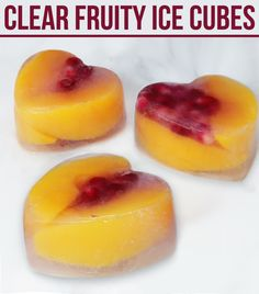 How to make clear fruity ice cubes.