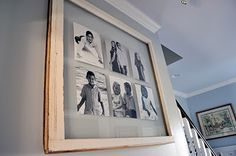 turn an old window pane into a wall frame!
