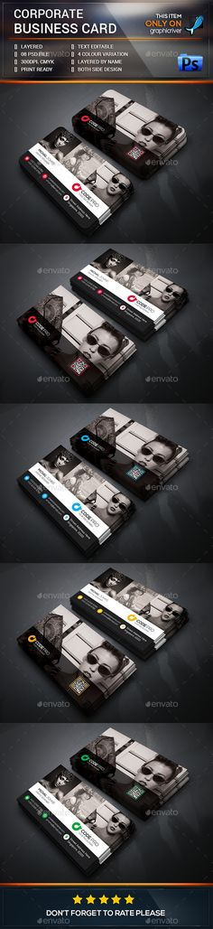 Buy Photography / Corporate Business Card by zeropixels on GraphicRiver. FEATURES: Easy Customizable and Editable Business card in with bleed CMYK Color Design in 300 DPI Resolut. Business Card Psd, Corporate Business, Business Card Design, Business Ideas, Brochure Design, Logo Design, Graphic Design, Brand Identity, Branding
