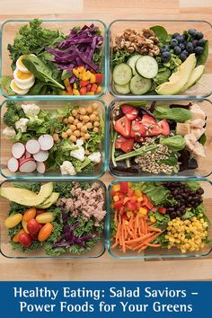 Salad Saviors: Power Foods For Your Greens Heart Healthy Recipes, Healthy Salad Recipes, Healthy Breakfast Recipes, Lunch Recipes, Healthy Lunches, Cold Lunches, Cold Meals, Healthy Eating Meal Plan, Clean Eating Recipes