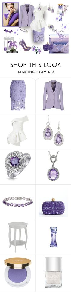 """""""lavender"""" by lumi-21 ❤ liked on Polyvore featuring Chicwish, Emilio Pucci, Maticevski, JudeFrances, Bling Jewelry, Journee Collection, QVC, Alexander McQueen, Home Decorators Collection and Lancôme"""